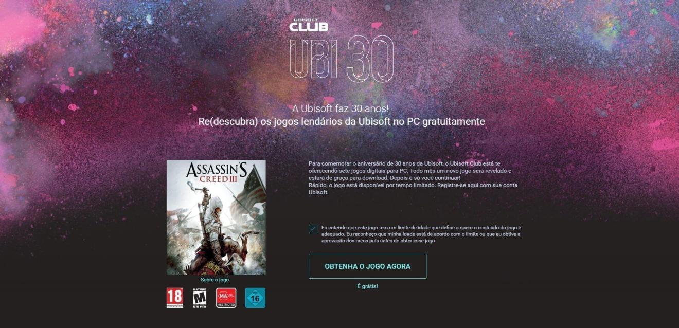 Assassins creed iii ubisoft ubi 30 e1481153488868 - Alguém disse Assassin's Creed III grátis?