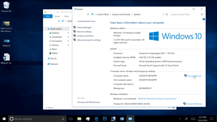Screenshot 4 720x406 - Windows 10 vai rodar com processadores Snapdragon