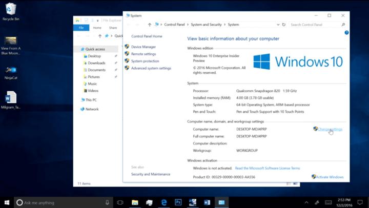 A Qualcomm e Microsoft se uniram para fazer o Windows 10 rodar com processadores Snapdragon com a arquitetura ARM.