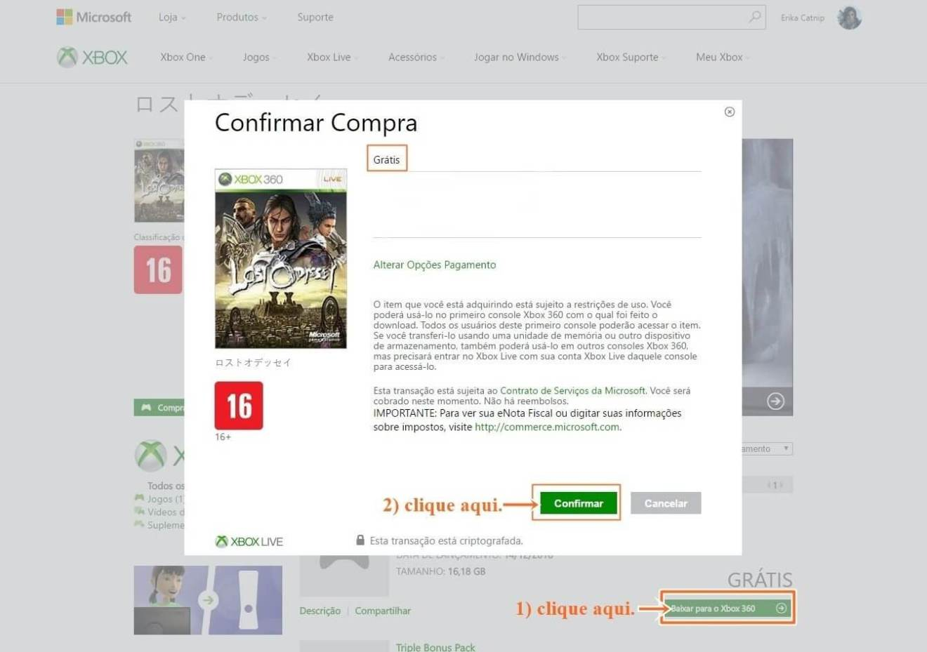 gratis 1 - Lost Odyssey: jogo grátis para Xbox 360/One