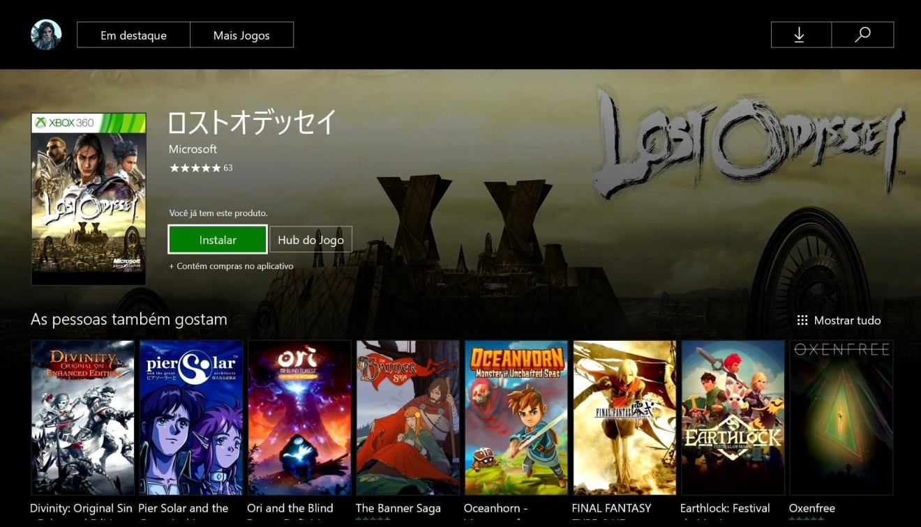 lost odyssey console - Lost Odyssey: jogo grátis para Xbox 360/One