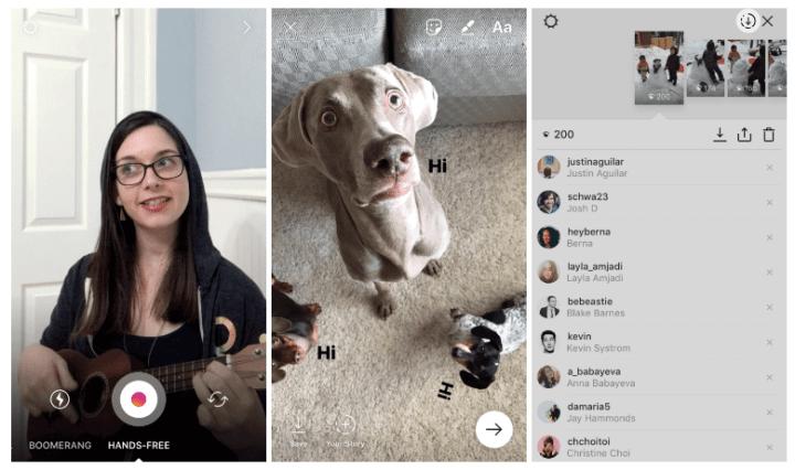 modo hands free e salvar histórias como vídeo