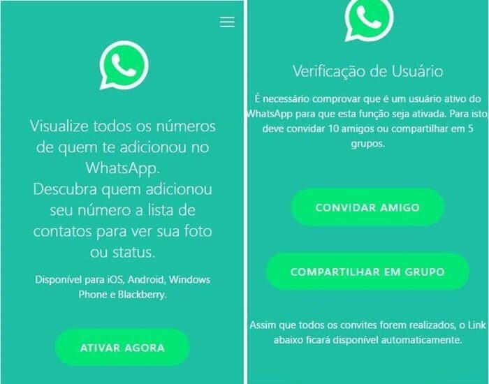 Print do golpe no WhatsApp