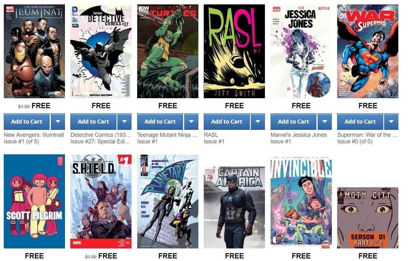 comics free - 133 HQs grátis em inglês
