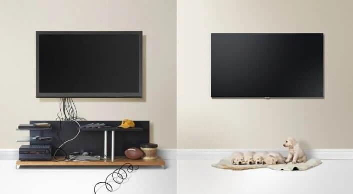 sem fios - Design impecável: TVs QLED da Samsung se integram à sua área de estar
