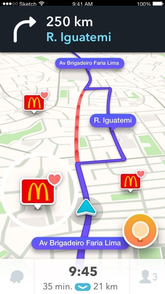 waze favorite brands 563x1000 - Novo recurso do Waze permite ver e favoritar marcas durante trajeto