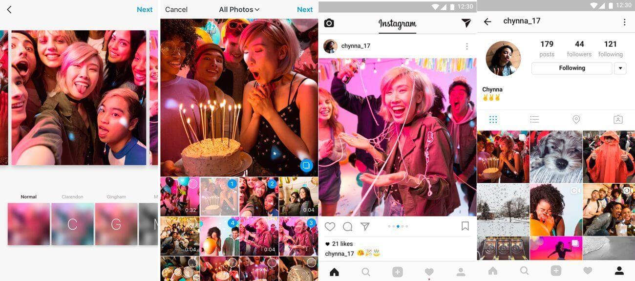 Instagram Albuns - Novo recurso do Instagram permite enviar até 10 fotos e vídeos de uma vez