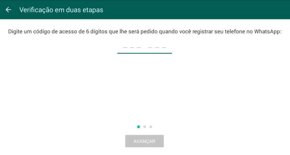 cod de acesso - Dica: como ativar a verificação em duas etapas do WhatsApp