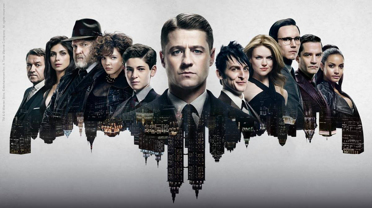 elenco gotham - No ringue da TV, quem leva: DC ou Marvel?