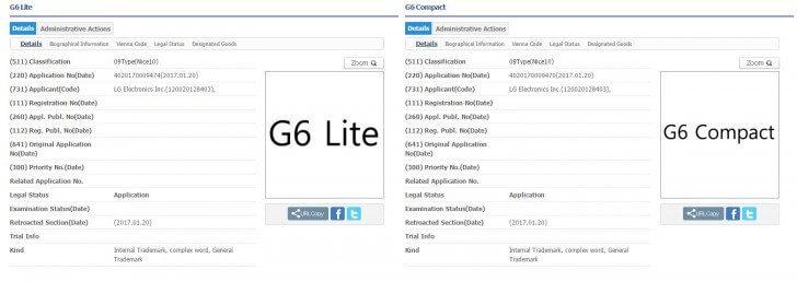 """g6litecompact - LG registra nomes """"G6 Compact"""", """"G6 Lite"""", entre outros"""