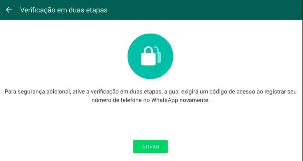 iniciar verificacao - Dica: como ativar a verificação em duas etapas do WhatsApp