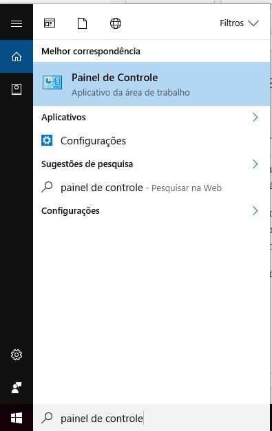 painel de controle pesquisa - Tutorial: Como remover o Internet Explorer do Windows 10