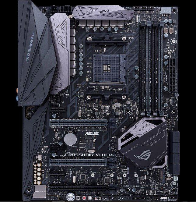 placa mãe ROG Crosshair VI Hero para processadores Ryzen da AMD