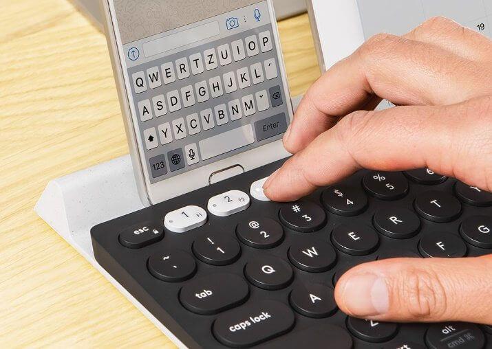 teclado com device - Review: Teclado Logitech K780