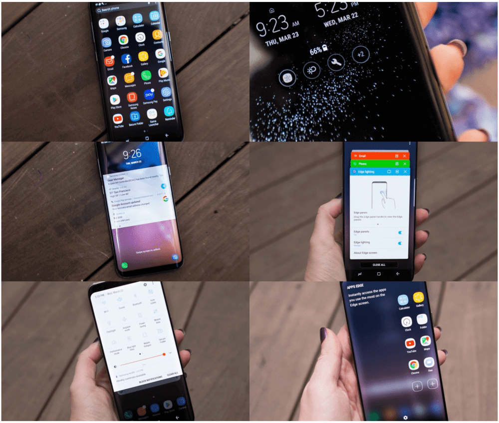 Galaxy S8 interface user UX