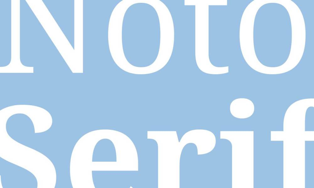 fonte noto serif