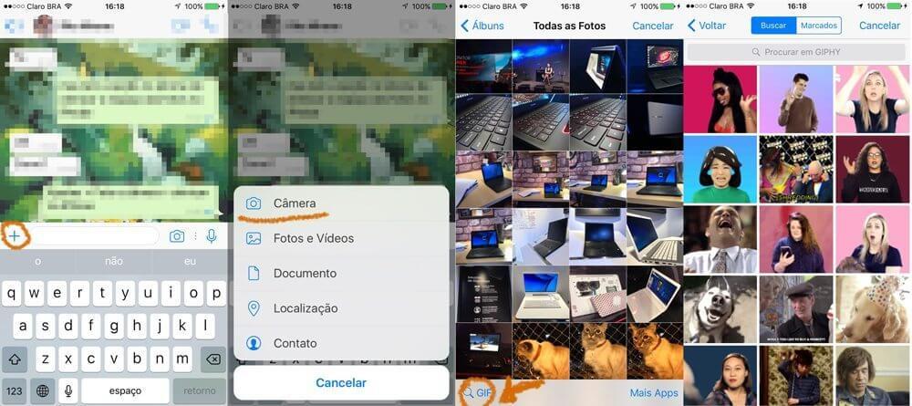 Tutorial: Como enviar GIFs no WhatsApp 5