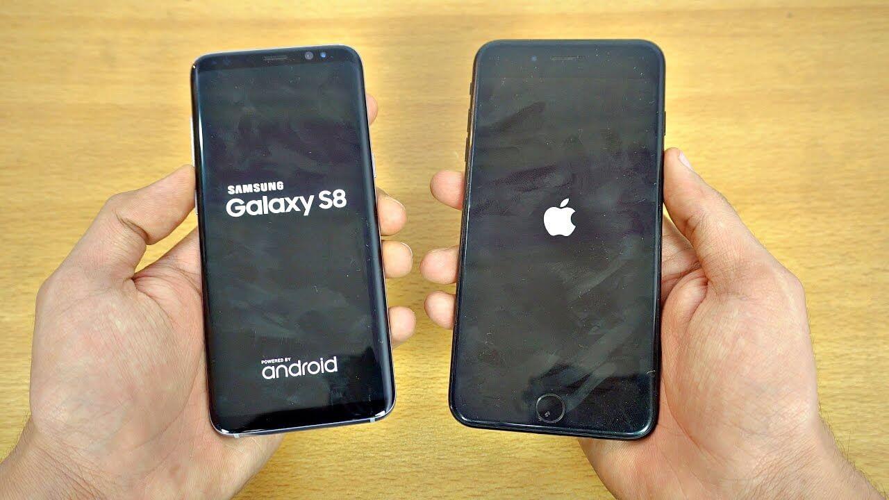 Qual é o mais rápido? iPhone 7 Plus ou Samsung Galaxy S8?
