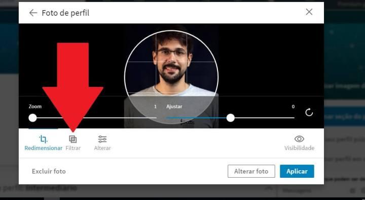 Passo5 720x396 - Tutorial: Como colocar filtro na foto de perfil do LinkedIn