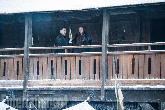 Petyr Baelish e Sansa Stark - Dragões e bastidores da próxima temporada de Game of Thrones