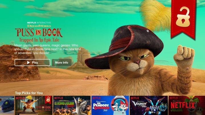 PussInBook Billboard 720x405 - Gato de Botas estrela o primeiro filme interativo da Netflix