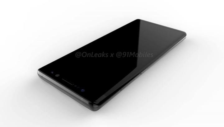 SAMSUNG GALAXY NOTE 8 RENDER FRONT 720x408 - Galaxy Note 8: novas renderizações mostram câmera dupla na traseira