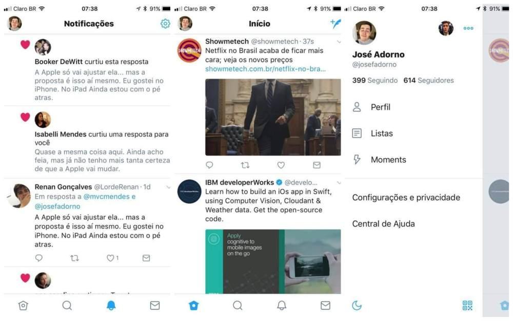 novo twitter - Twitter e Skype mudam design em novas atualizações