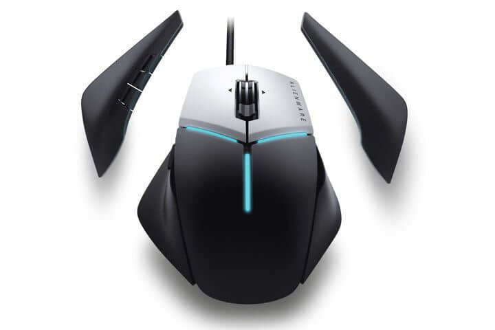 alienware elite gaming mouse 1 720x480 c - Dell lança linha gamer de acessórios e monitores Alienware no Brasil