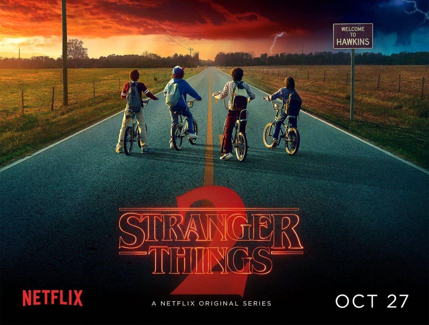 Cartaz da 2ª temporada tem novo monstro e nova data — Stranger Things