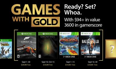 Games with Gold: jogos grátis na Live para setembro de 2017