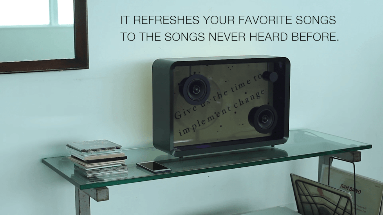 Captura de Tela 149 - Cotodama Lyric Speaker é uma caixa de som com tela translúcida para letras