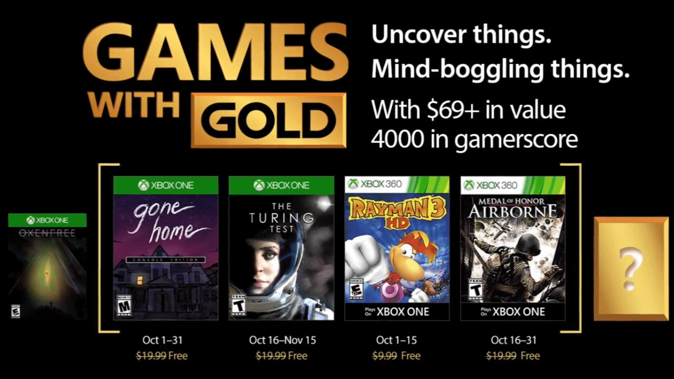 Games With Gold Jogos Grtis Na Live Para Outubro De 2017