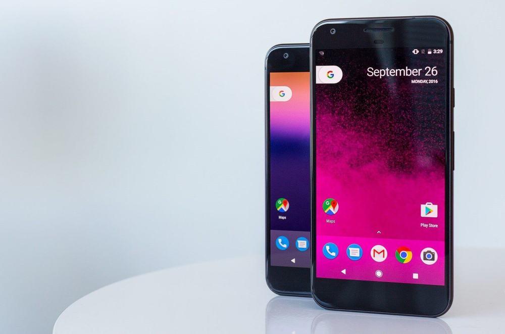Pixel e Pixel XL: smartphones produzidos pela HTC e Google no ano passado.