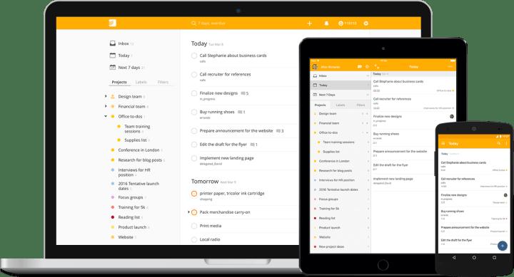 Todoist lista 720x389 - Os melhores aplicativos para substituir o caderno de anotações