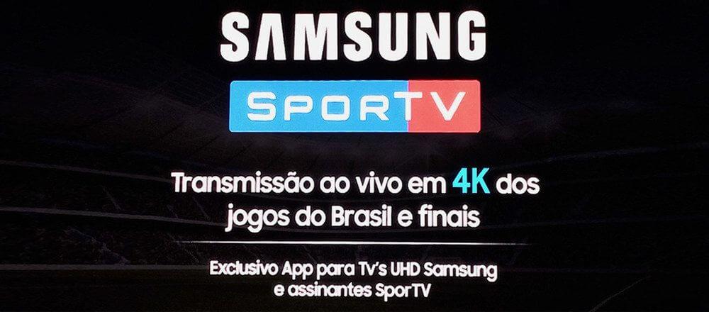 samsung sportv 4k - Samsung e SporTV firmam parceria para transmissão de jogos em 4K