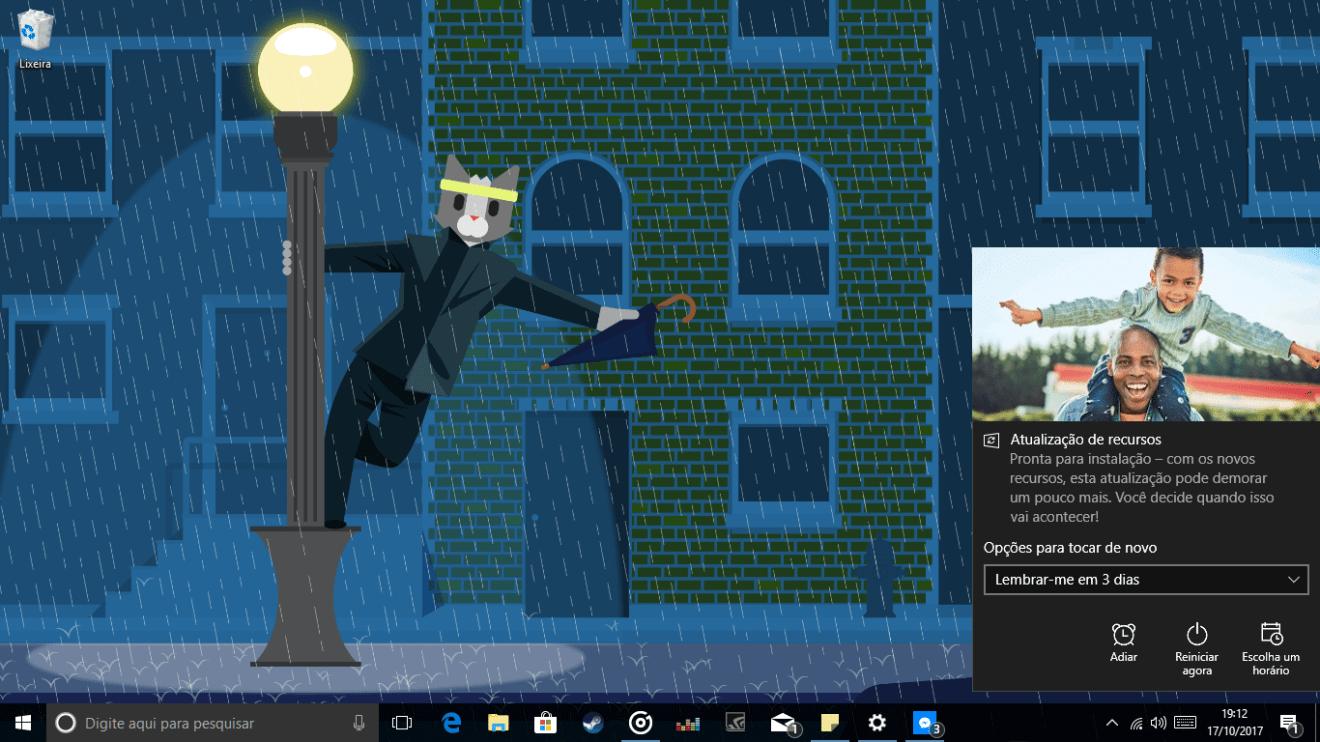 Captura de Tela 225 - Windows 10 Fall Creators Update: como atualizar seu PC hoje