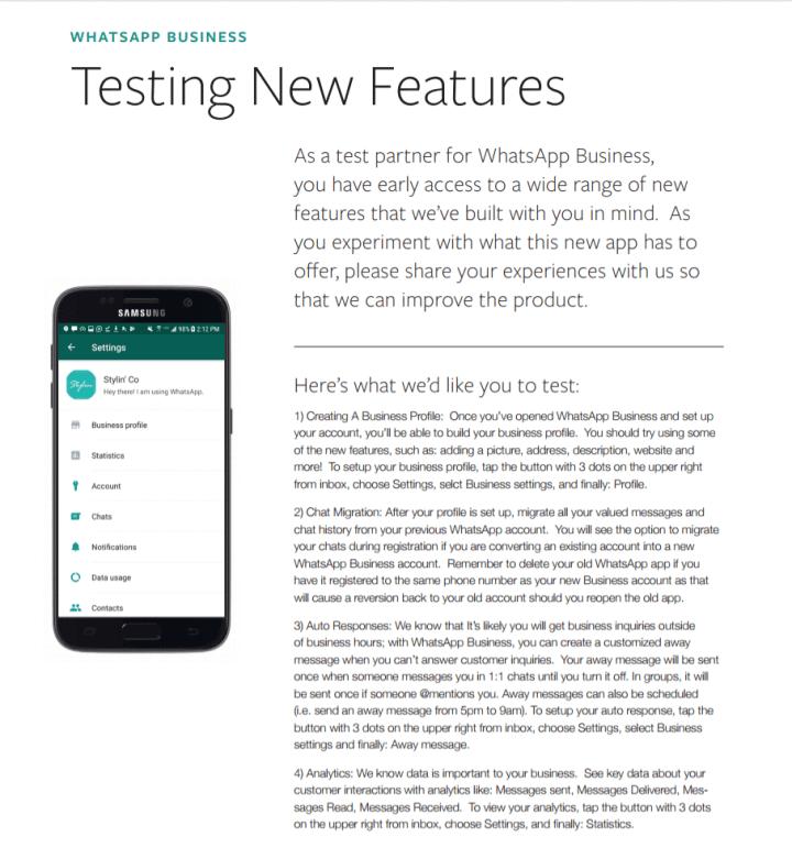 WhatsApp Business, aplicativo voltado para empresas, começa a ser testado com a possibilidade de incluir números fixos entre outras novidades