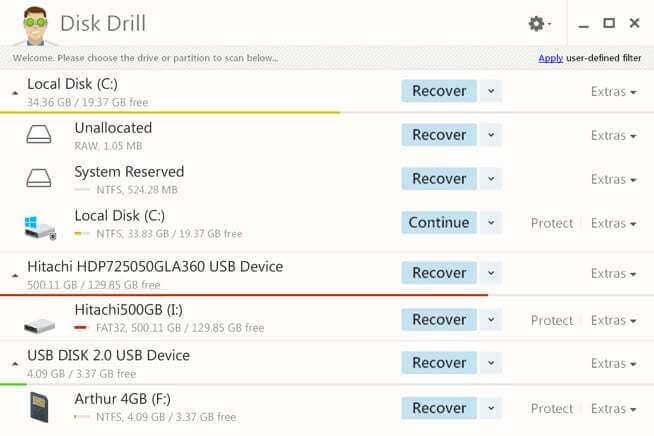 headWinDeleteScreen - Como recuperar dados de um HD formatado com o Disk Drill