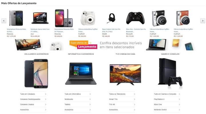 Amazon já começa com alguns produtos, como o Moto G5S, em oferta