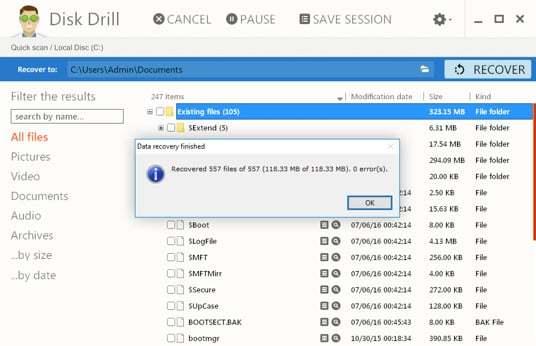 step4WinFiles - Como recuperar dados de um HD formatado com o Disk Drill