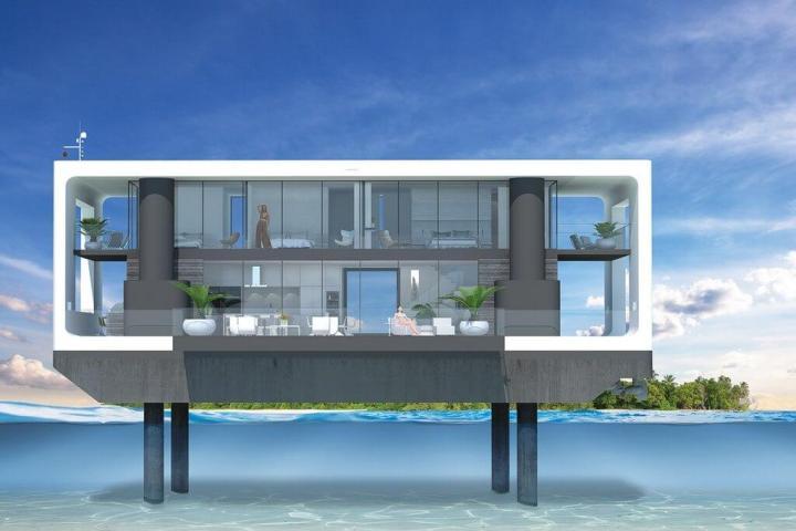 Arquiteto holandês desenvolve casa flutuante que suporta furacões 4