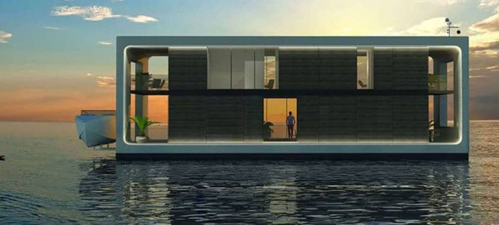 Arquiteto holandês desenvolve casa flutuante que suporta furacões 12