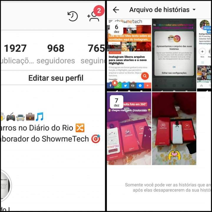 Como utilizar o Arquivo e Highlights do Instagram Stories 5