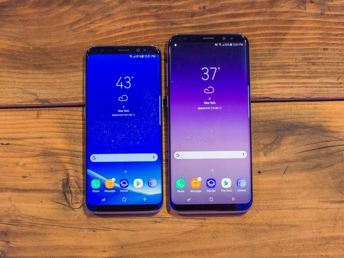 here they are samsungs galaxy s8 and galaxy s8 plus note the ultra narrow top and bottom borders - Consumer Reports lista os melhores smartphones de tela grande de 2017