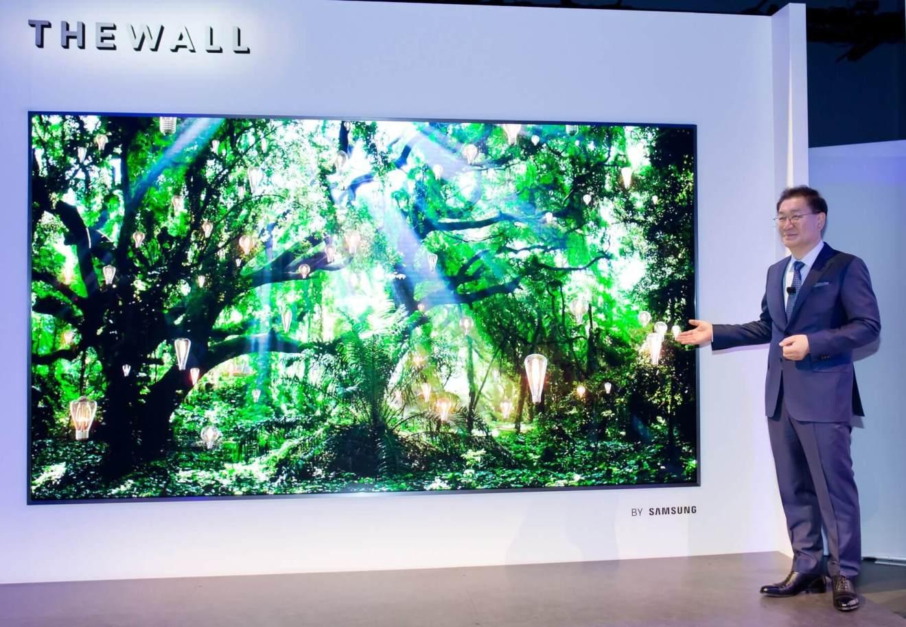 """0E527893 4BB6 46EA BE72 CA7DA1053BAA - CES 2018: """"The Wall"""", conheça a TV modular de 146 polegadas com MicroLED da Samsung"""