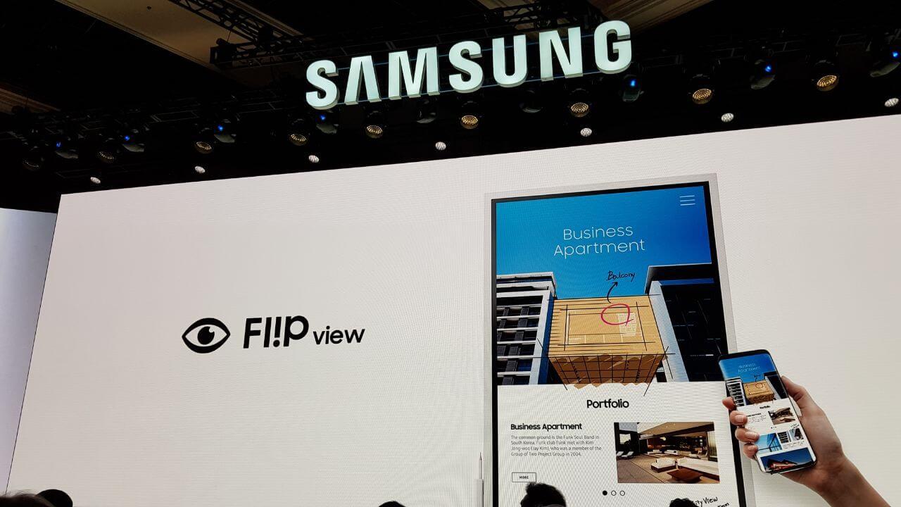 61c42856 437c 4642 8209 30bb20d1d7d3 - CES 2018: Conheça o Samsung Flip, seu novo quadro digital