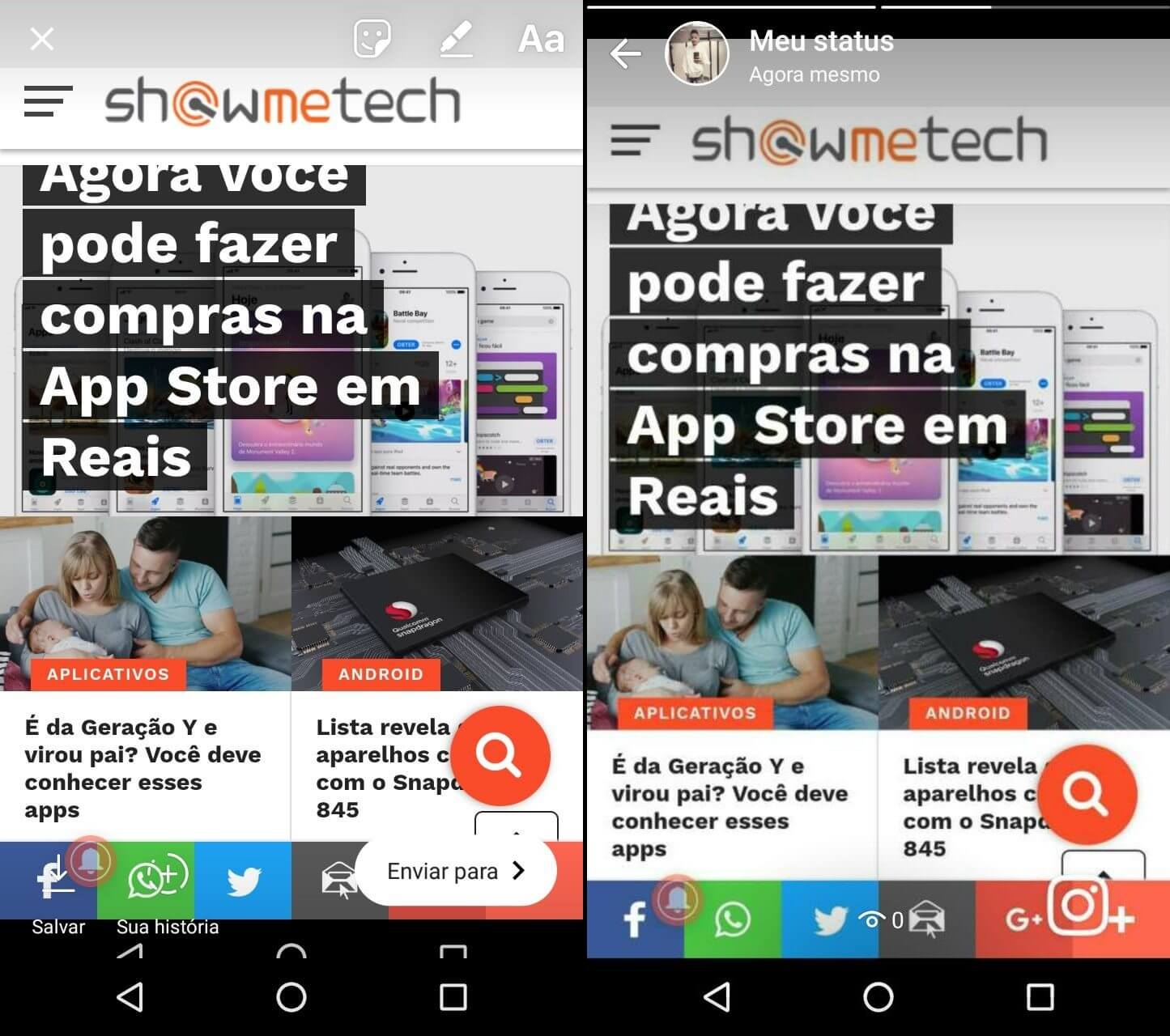 As Stories do Instagram poderão ser partilhadas no WhatsApp