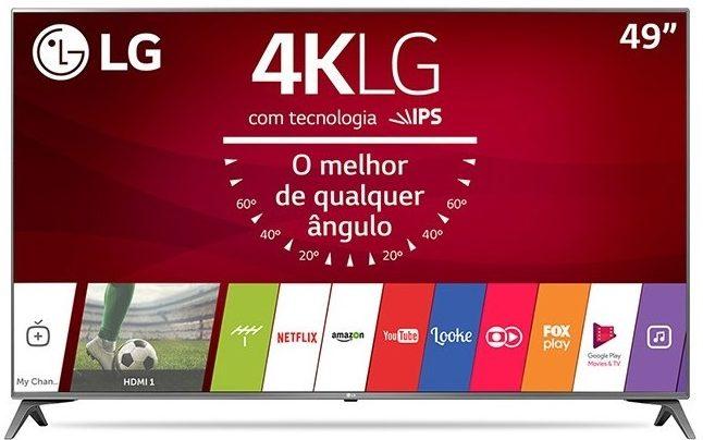 smart tv tv led 49 lg 4k hdr netflix 49uj6565 4 hdmi photo193431298 12 3f 32 e1519348648652 - Smart TV: confira os modelos mais buscados no ZOOM em fevereiro
