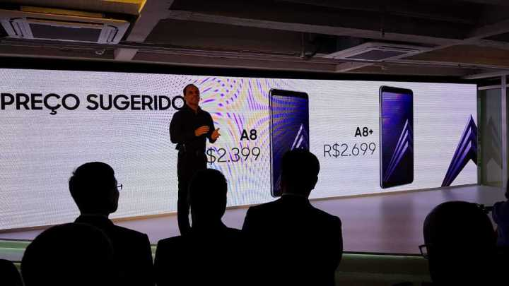 WhatsApp Image 2018 02 06 at 18.22.41 720x405 - Samsung lança Galaxy A8 e A8+ no Brasil