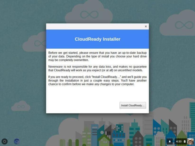cloudready install prompt - Como transformar seu notebook velho em um Chromebook de graça